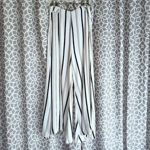 Anthropologie Ett:Twa Manon Flared Striped Pants